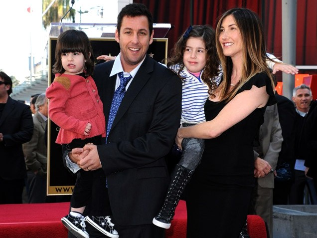 Family photo of the actor, married to Jackie Sandler, famous for Grown Ups & Big Daddy.