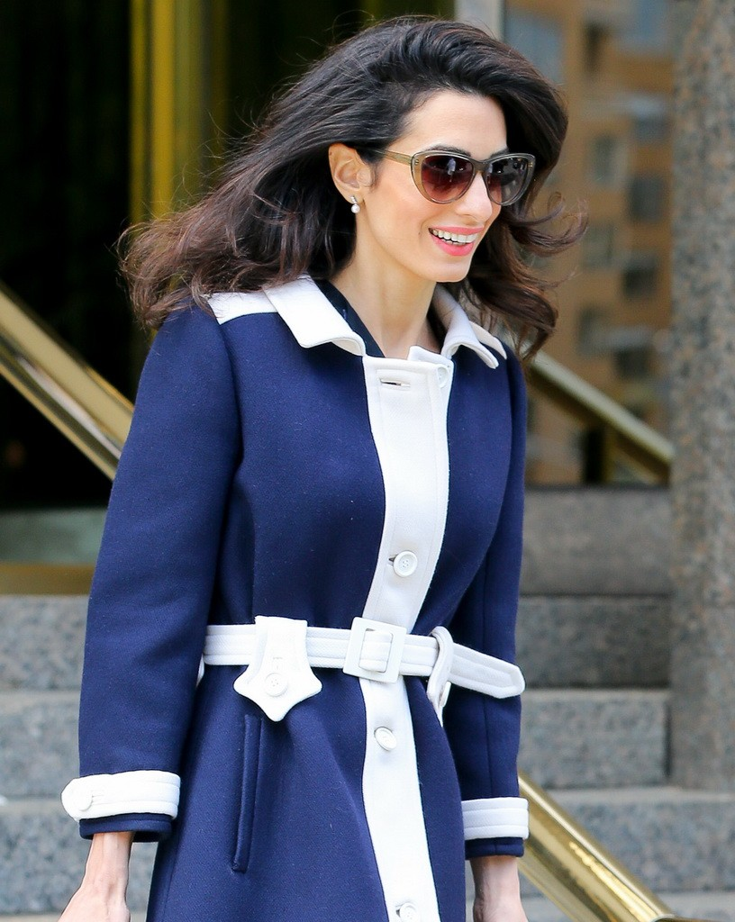 EXCLUSIVE: Amal Clooney looks radiant in another stylish outfit while out and about in New York City