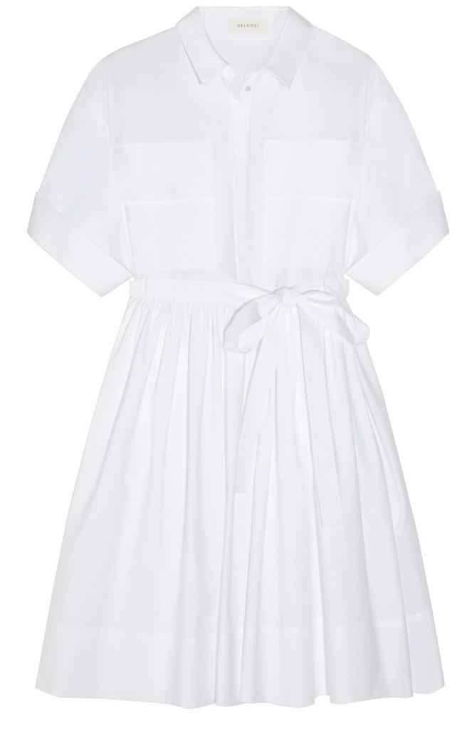 565241 Delpozo cotton shirt dress NET-A-PORTER