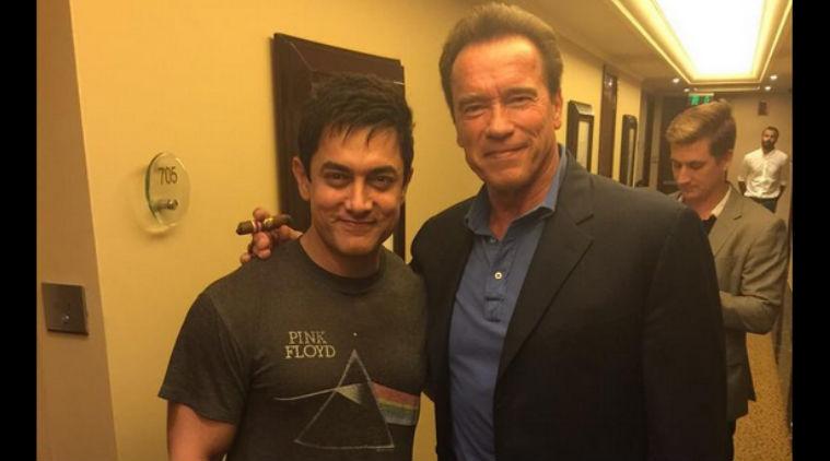 Aamir Khan و Arnold Schwarzenegger