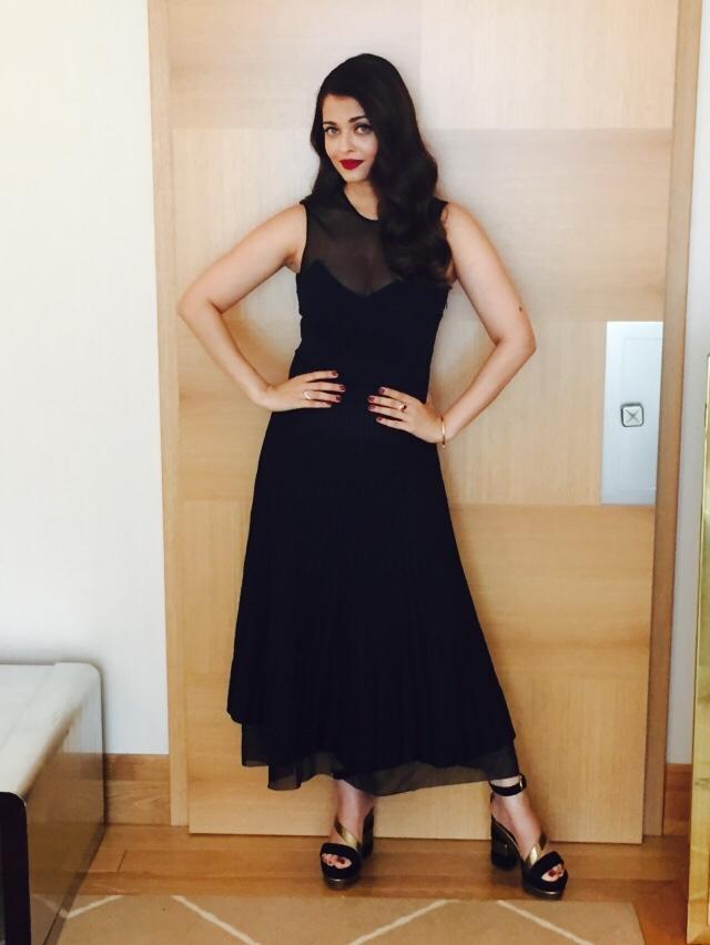 Aishwarya Rai wearing Salvatore Ferragamo - 68th Cannes Film Festival