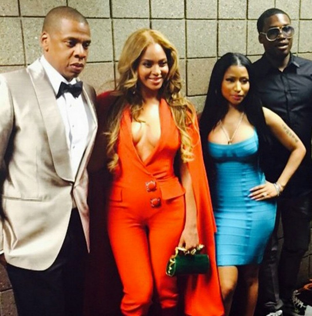 Beyonce-Jay-Z-and-Nicki-Minaj-at-Mayweather-VS-Pacquiao2