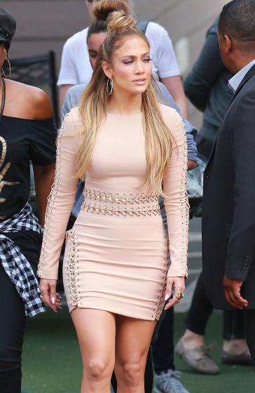 Jennifer Lopez At American Idol Studios