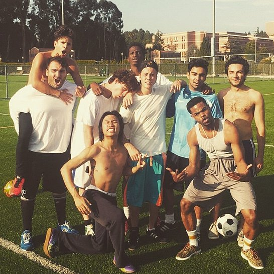 Justin-Bieber-sweated-out-playing-soccer-friends
