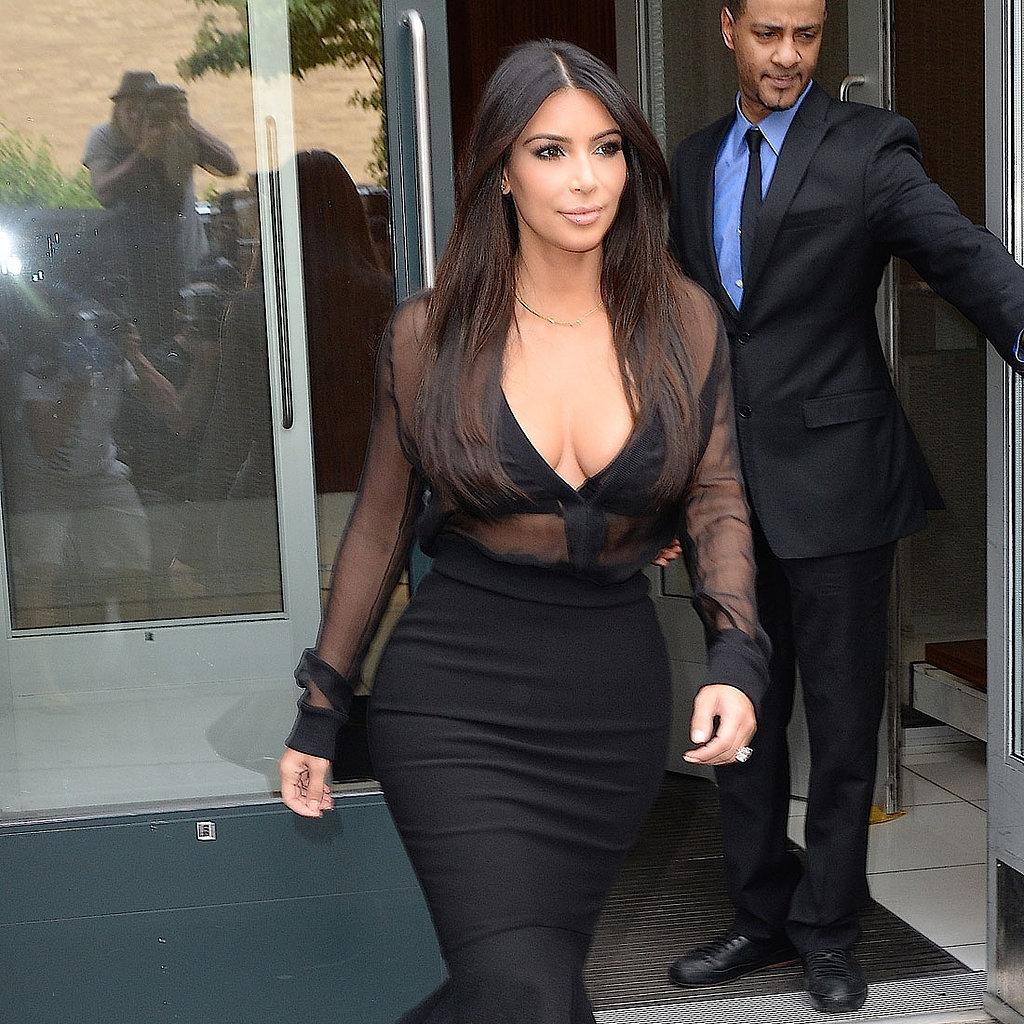Kim-Kardashian-Sheer-Top-Pencil-Skirt-Outfit