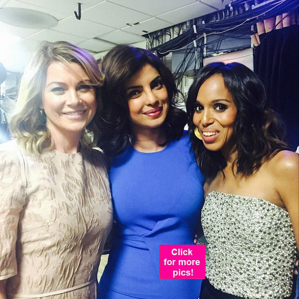 Priyanka Chopra تتوسط Ellen Pompeo و Kerry Washington