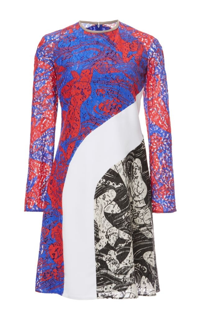 resized_Carven PRINTED LACE LONG SLEEVE DRESS $1,250