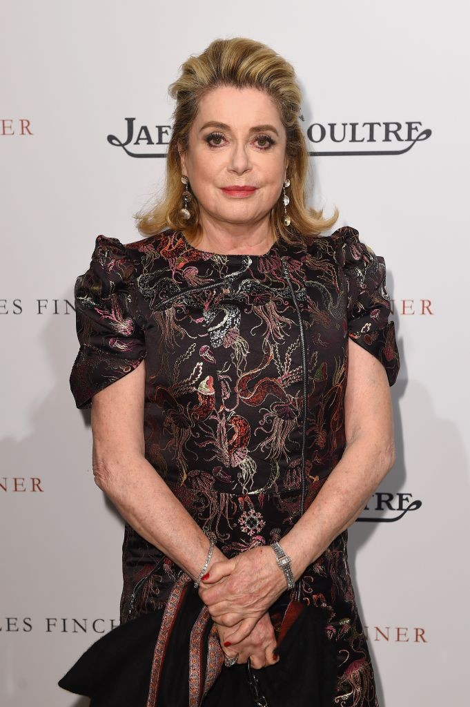 resized_Catherine Deneuve wearing her Jaeger-LeCoultre Etrier watch attend the filmmakers dinner Finch & Partners and Jaeger-LeCoultre. Antibes. Getty images