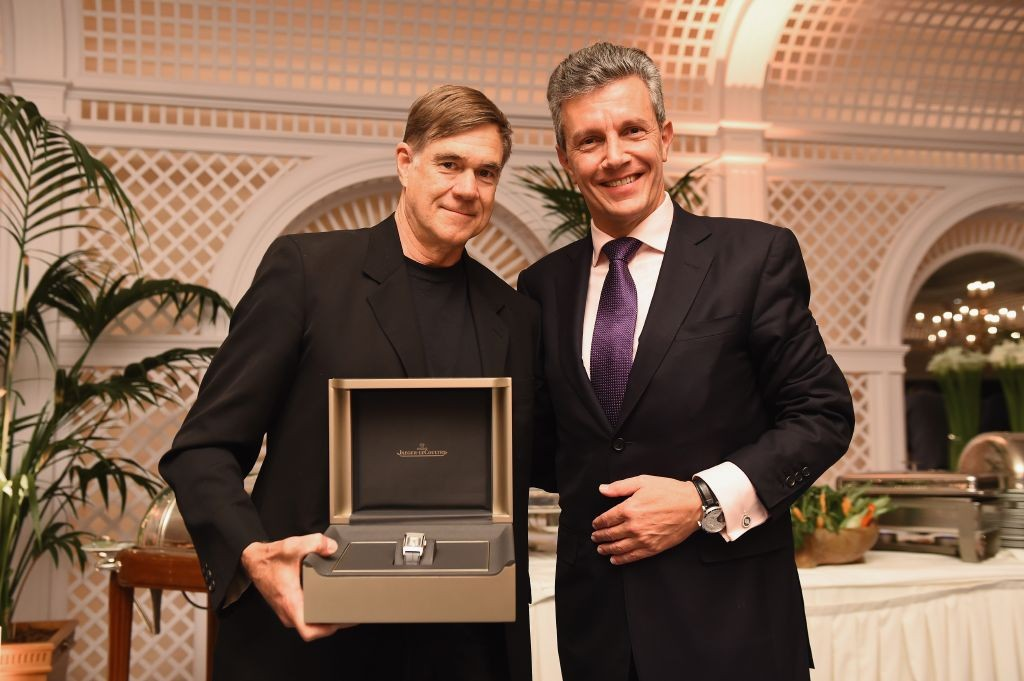 resized_Gus Van Sant and Jaeger-LeCoultre CEO Daniel Riedo at the filmmakers dinner Finch & Partners and Jaeger-LeCoultre. Antibes. Getty images