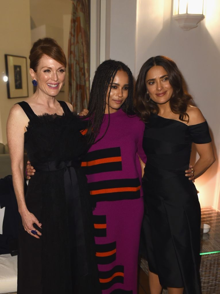 resized_Julianne Moore, Zoe Kravitz, Salma Hayek at 'The Art of Behind The Scenes' exhibition-Finch & Partners and Jaeger-LeCoultre. Antibes. Getty images
