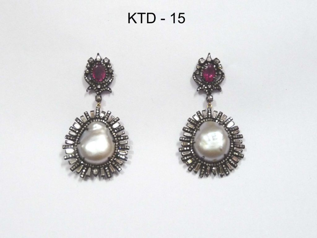 resized_KTD 15 RUBY & PEARL EARRING