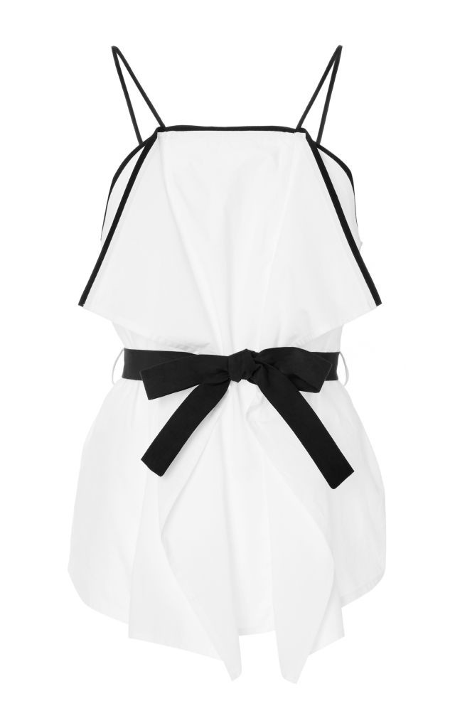 resized_MSGM WHITE COTTON BELTED CAMISOLE $355