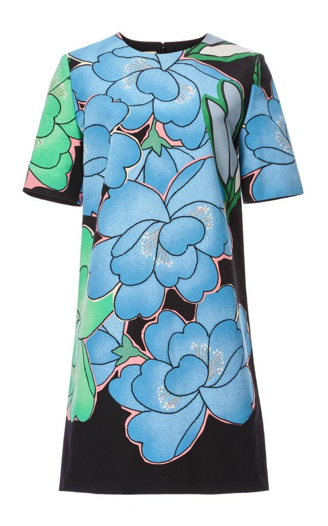 resized_Marni FLORAL COTTON LINEN SHORT SLEEVE DRESS $1,280