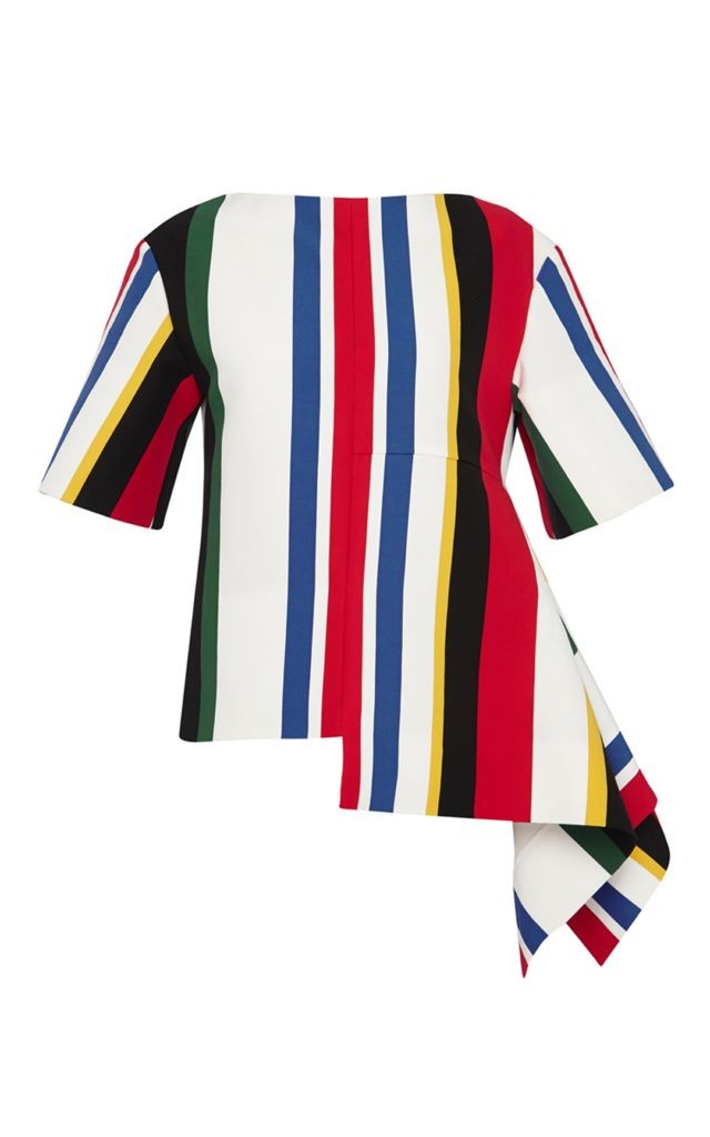 resized_Marni MULTICOLOR STRIPED TOP WITH LAYERED HEM $1,120