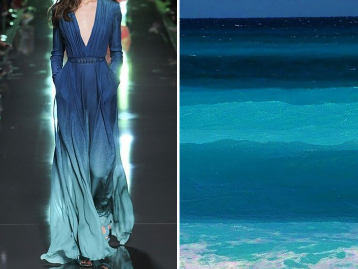 ألوان البحر وفستان من إيلي صعب لموسم صيف 2015