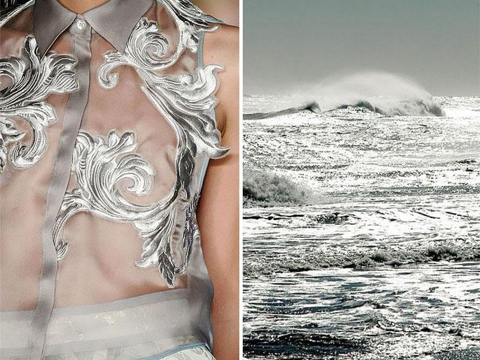 أمواج البحر وفستان من مجموعة أكويلانو ريموندي لصيف 2012