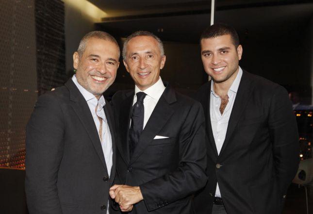 إيلي صعب مع ابنه والسيد ألبيرتو