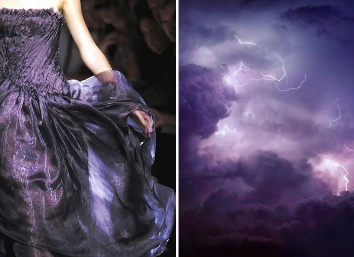 السماء العاصفة مع فستان من مجموعة بوتيغا فينيتا 2010