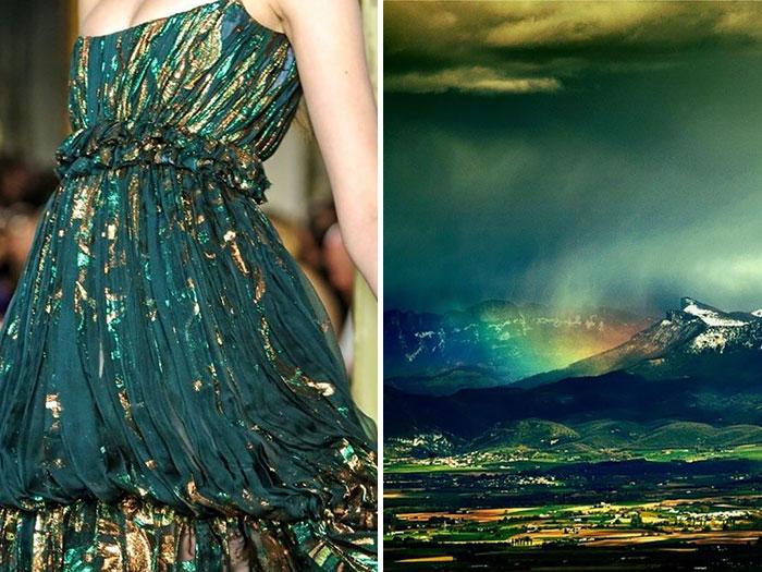 المطر على الجبال وفستان من إيميليو بوتشي