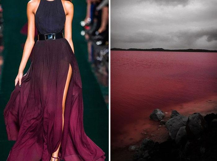 بحيرة في استرالية وفستان لإيلي صعب لموسم شتاء 2015