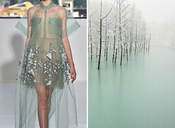 بحيرة متجمدة وفستان من دبلوتزو لصيف 2015