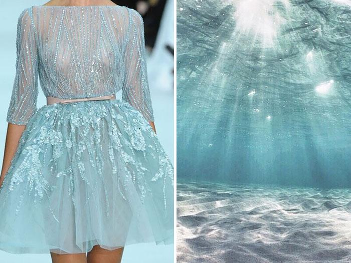 شاطء استوائي وفستان من إيلي صعب لموسم صيف 2013