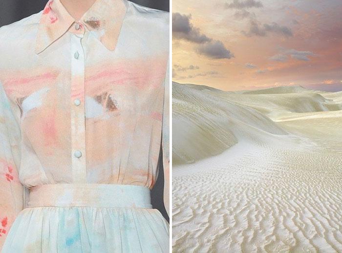 شاطئ رملي وفستان من مجموعة كريستيان سيريانو لموسم صيف 2013