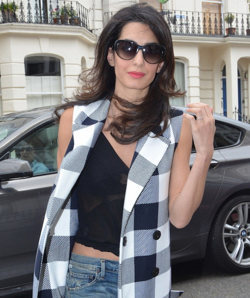 Amal Clooney seen out and about in London