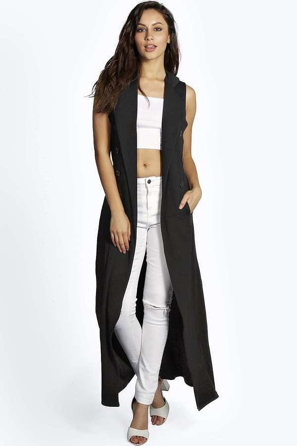 Boohoo-Sleeveless-Button-Belted-Trench