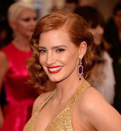 Jessica Chastain Piaget Earrings