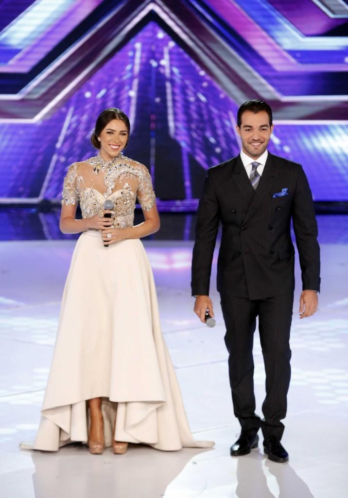 MBC4 & MBC MASR - The X Factor - Presenters Daniella Rahme and Bassel Al Zaro (1)