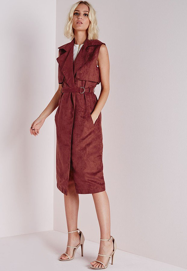 Missguided-Sleeveless-Belted-Trench-Jacket