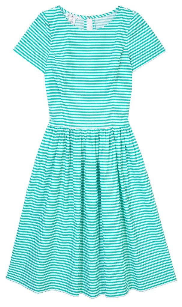 Oscar de la Renta_Striped dress_THEOUTNET.COM