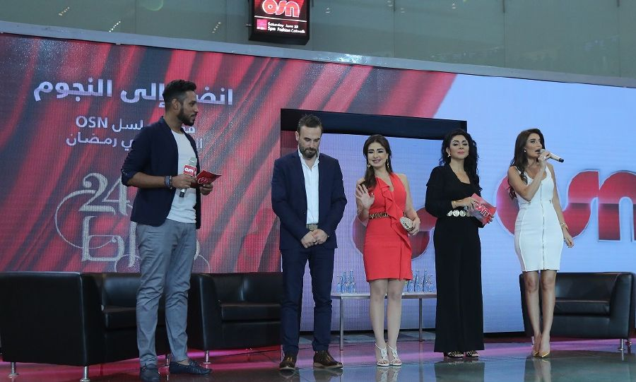 resized_OSN 24 Carat - Abdullah Bassem Maguy Huda Cyrine on stage