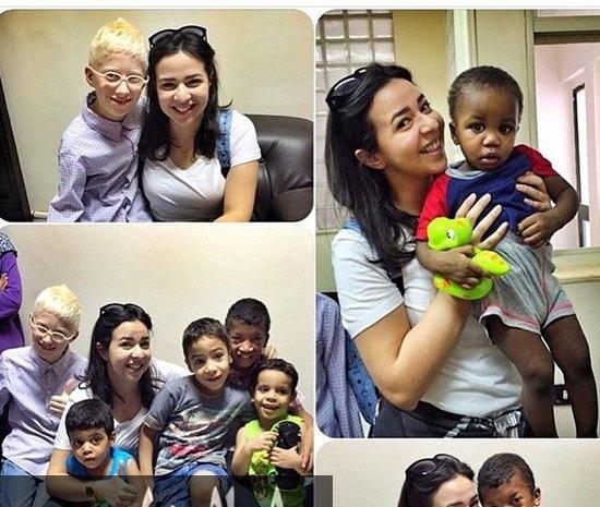 إيمي سمير غانم مع أطفال دار الأورمان (1)
