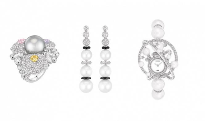 تصاميم  مختلفة ضمتها  مجموعة Les Perles de Chanel
