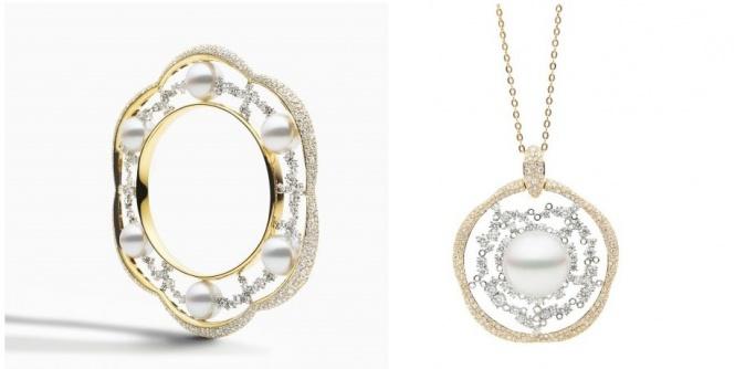 سوار و قلادة من الماس واللؤلؤ من مجموعة أوديسي تصميم Paspaley