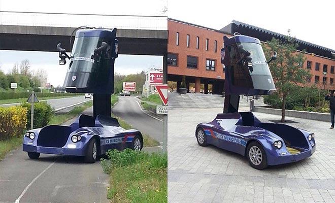 سيارة فرنسية بمقعد يترفع حتى 3 (1)