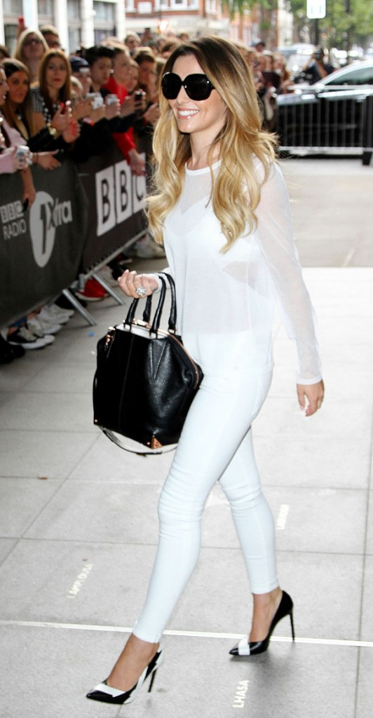Cheryl Cole signs for fans after guest spot on BBC Radio1 - Part 2 **USA ONLY**