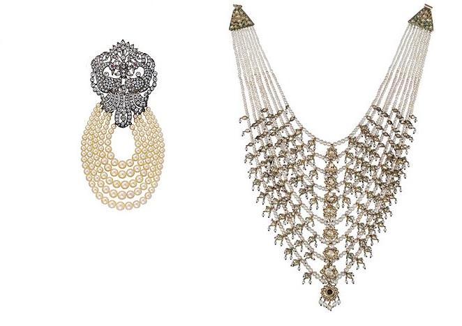مجوهرات أم كلثوم ضمت عقد و بروش رائعين من اللؤلؤ الطبيعي الثمين