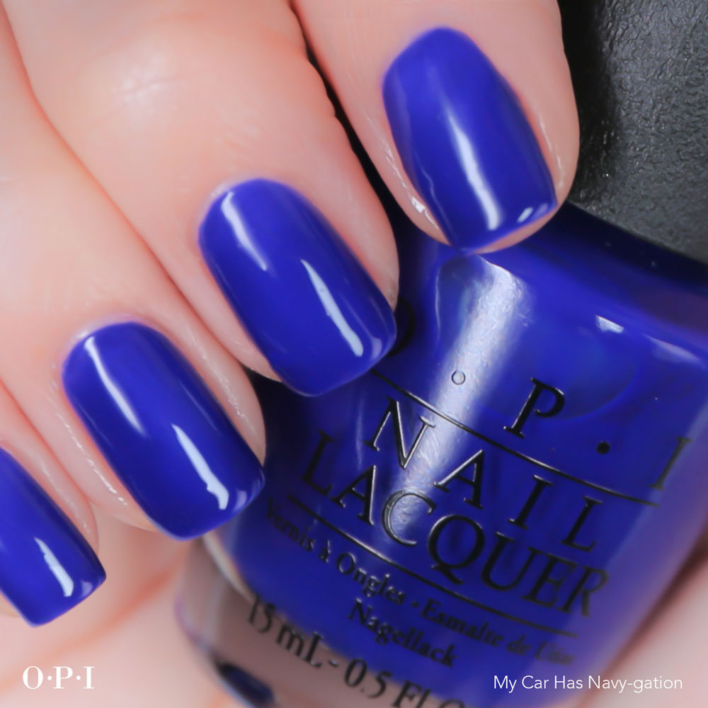 OPI - Brights Collection - My Car Has Navy-gation - hand visual - AED49