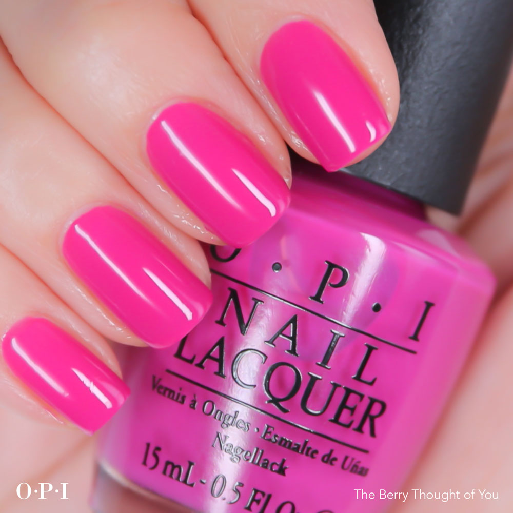 OPI - Brights Collection - The Berry Thought -hand visual - AED49