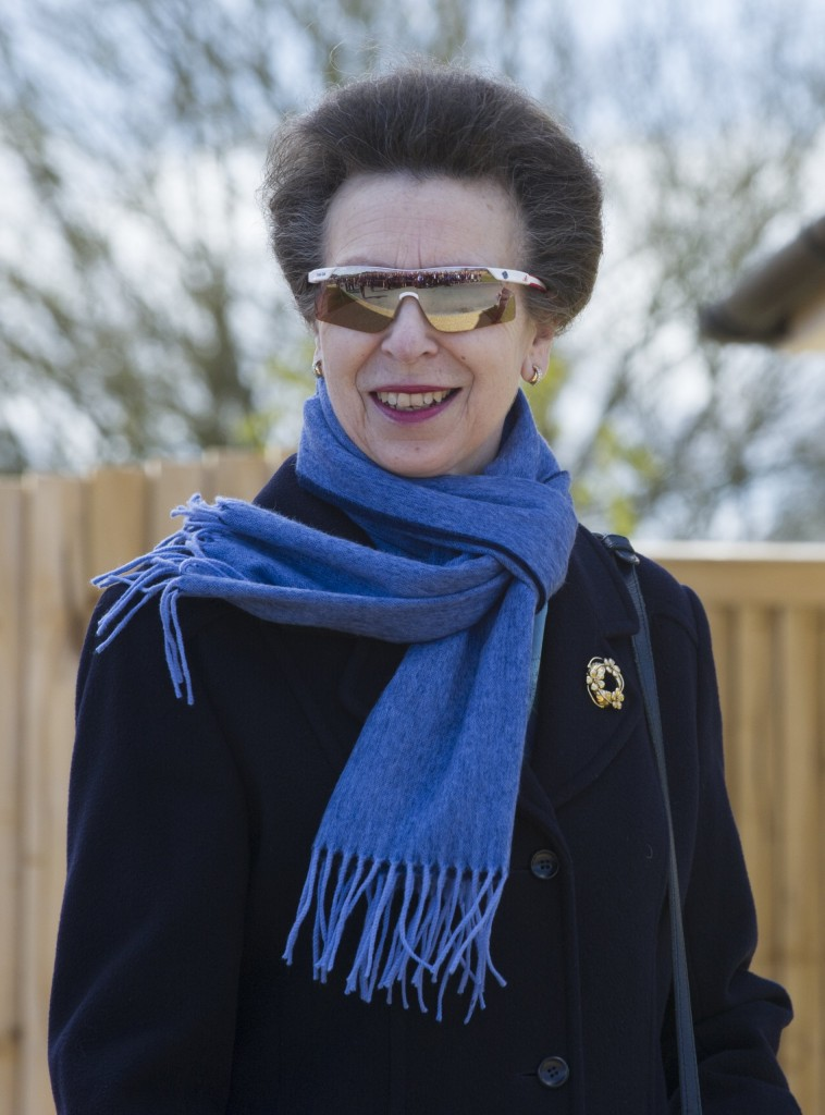 Princess Anne in her daughters Olympic shades