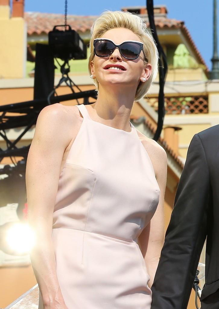 Princess Charlene looking SO Monaco in Dior