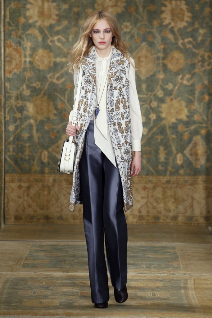 Tory_Burch_Fall_2015_Look_05 - Vest and Shirt Available