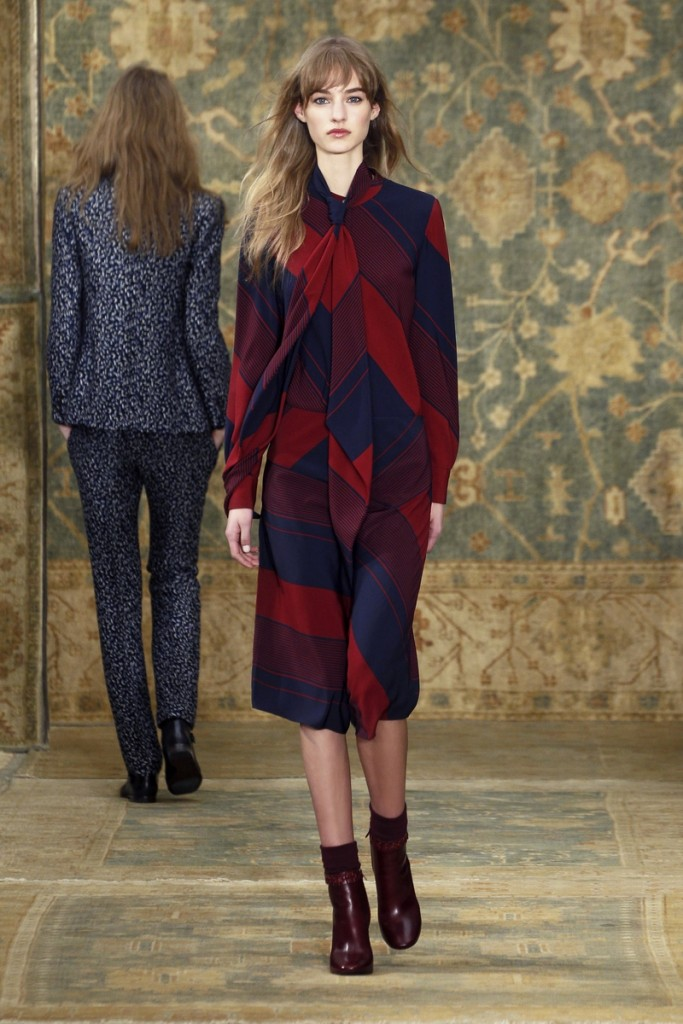 Tory_Burch_Fall_2015_Look_12 - Blouse and Skirt Available