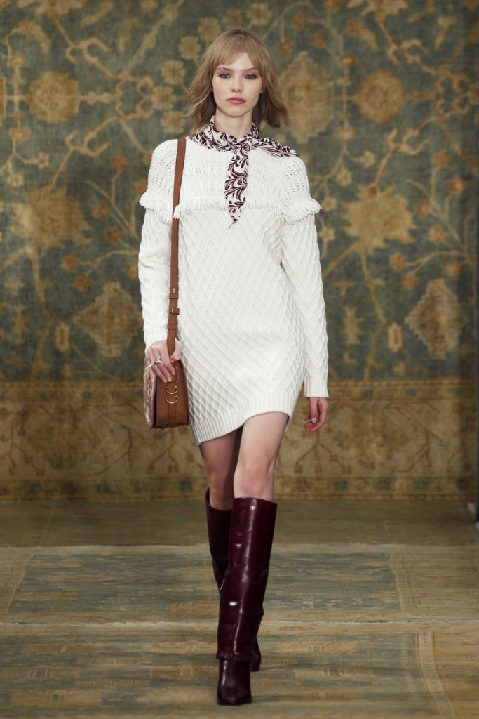 Tory_Burch_Fall_2015_Look_23 - Dress and Blouse