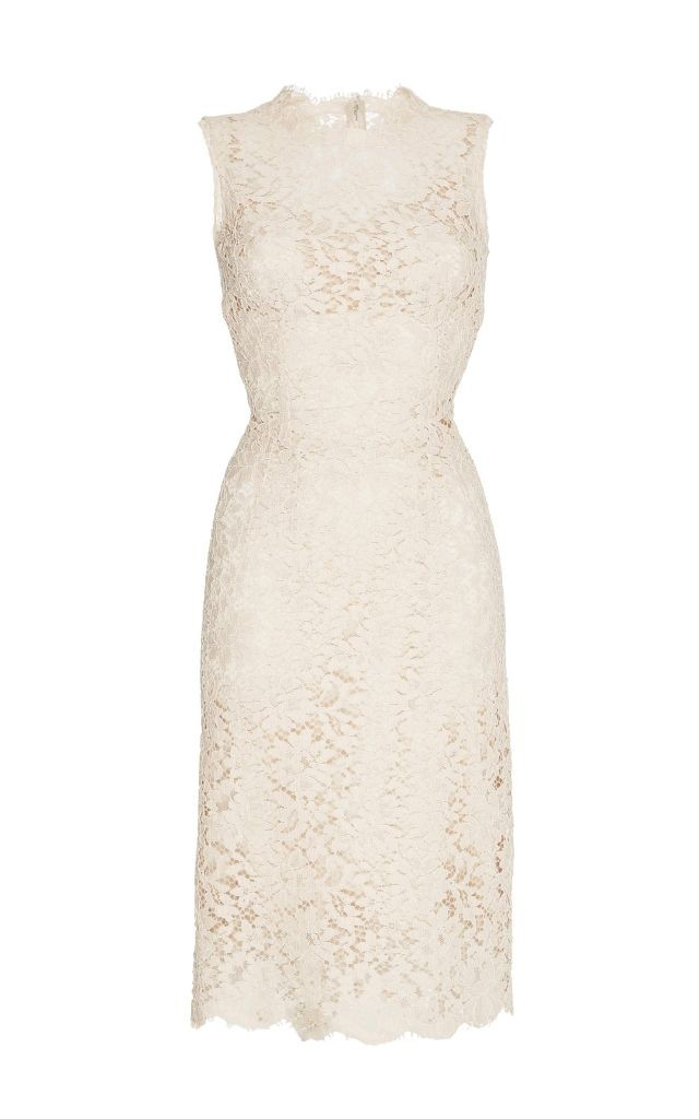 resized_Dolce & Gabbana Nude Sleeveless Lace Dress $3,295_2