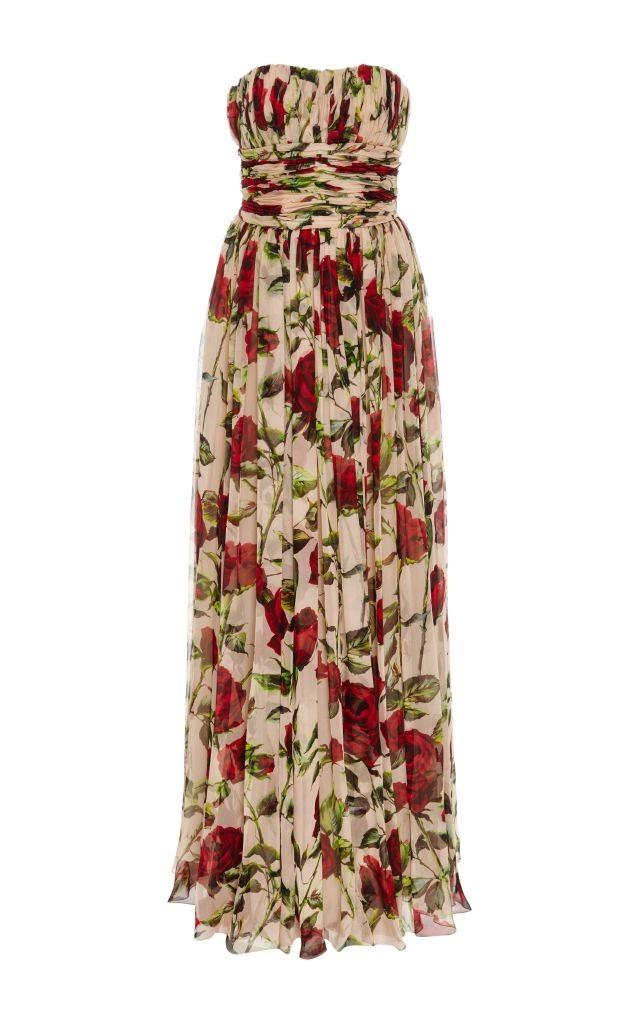 resized_Dolce & Gabbana Silk Strapless Floor Length Dress $11,000_2