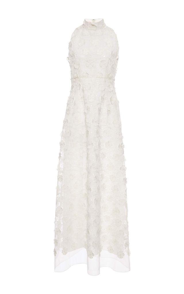 resized_Giamba Ivory Sleeveless Lace Flower Dress $2,800_2